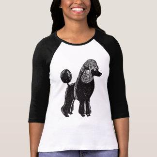Black Standard Poodle Women's Raglan Shirt