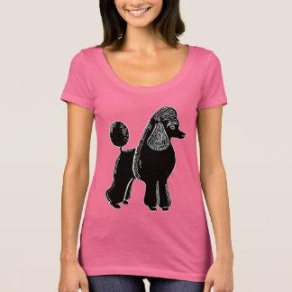 Black Standard Poodle Women's Scoop Neck T-Shirt