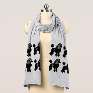 Black Standard Poodles Jersey Scarf