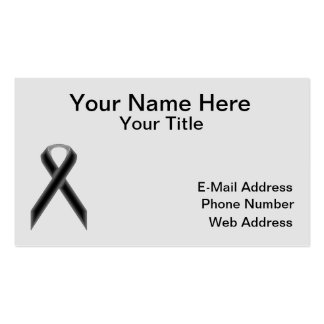 Black Standard Ribbon Business Card