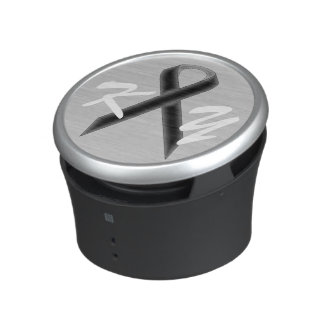 Black Standard Ribbon by Kenneth Yoncich Bluetooth Speaker