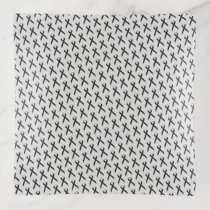 Black Standard Ribbon by Kenneth Yoncich Trinket Trays