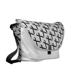 Black Standard Ribbon Courier Bag