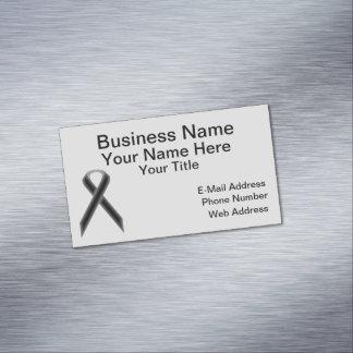 Black Standard Ribbon Magnetic Business Card