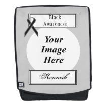 Black Standard Ribbon Template by Kenneth Yoncich Backpack