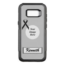 Black Standard Ribbon Template by Kenneth Yoncich OtterBox Commuter Samsung Galaxy S8  Case