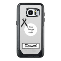 Black Standard Ribbon Template by Kenneth Yoncich OtterBox Samsung Galaxy S7 Edge Case