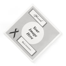Black Standard Ribbon Template by Kenneth Yoncich Paper Dinner Napkin