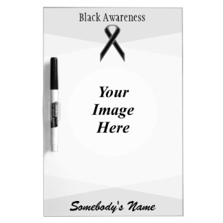 Black Standard Ribbon Template Dry Erase Board