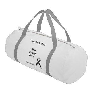 Black Standard Ribbon Template Gym Duffle Bag