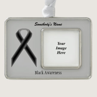 Black Standard Ribbon Template (H-O) Christmas Ornament