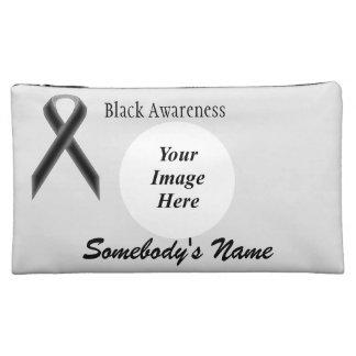 Black Standard Ribbon Template Makeup Bag