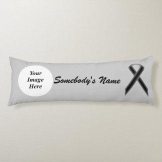 Black Standard Ribbon Template Body Pillow