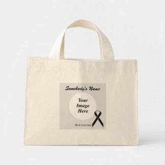 Black Standard Ribbon Template Mini Tote Bag