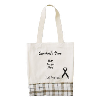 Black Standard Ribbon Template Zazzle HEART Tote Bag