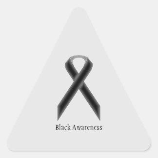 Black Standard Ribbon Triangle Sticker