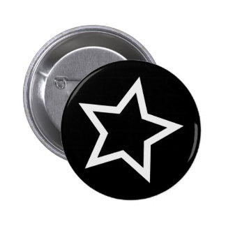 Black Star Bold White Outline Buttons