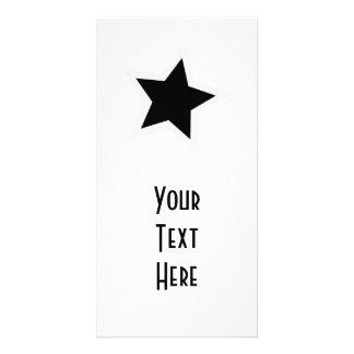 Black Star Bold White Outline Card