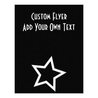 Black Star Bold White Outline Flyer