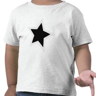 Black Star Bold White Outline Tee Shirts