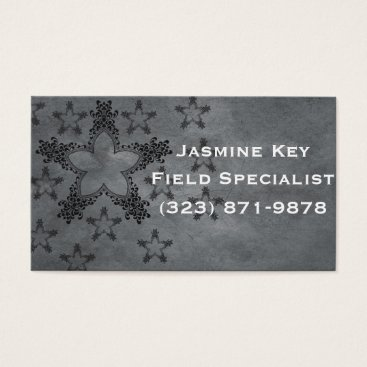 Professional Business Black star business card