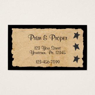 Black Star Business Card