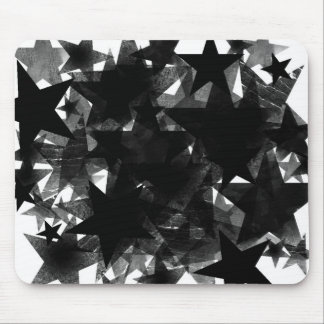 Black Star Frenzy Mouse Pad