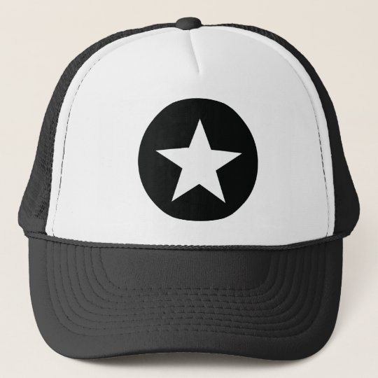 black star icon army trucker hat