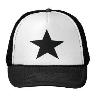 black star icon trucker hat