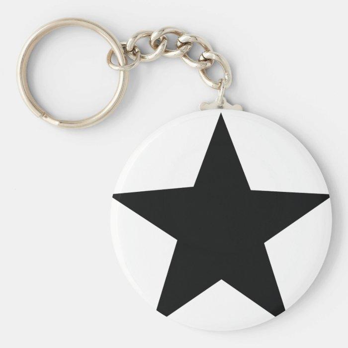 black star icon keychain
