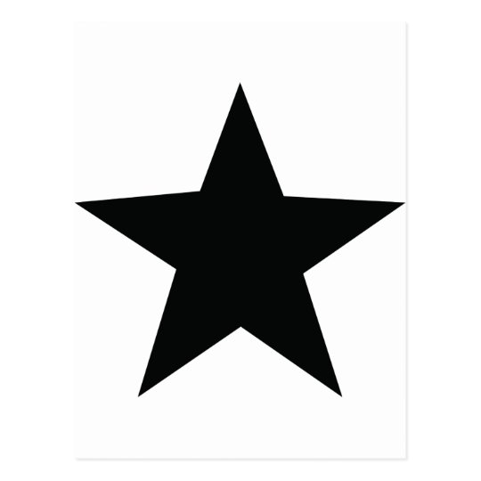 black star icon postcard