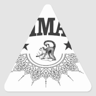black star monkey primate triangle sticker