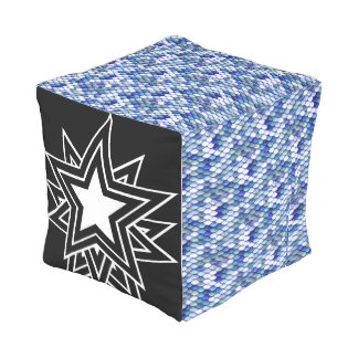 black star outdoor pouf