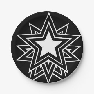 black star paper plate