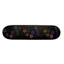 Black Star Pattern Skateboard