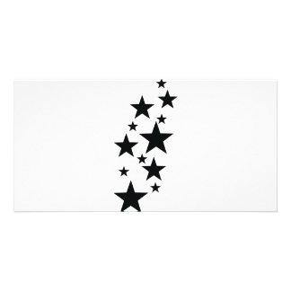 black star rain icon card