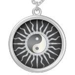Black Starburst Yin Yang Custom Necklace