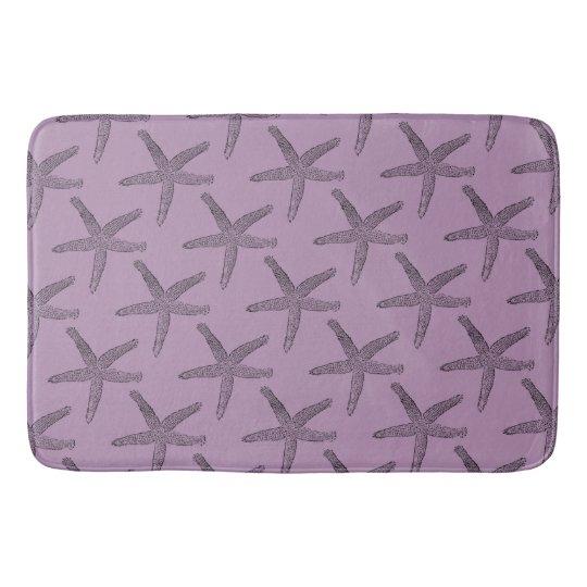 Black Starfish Rosy Purple Small Bath Mats Zazzle Com