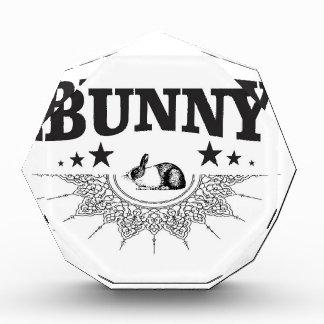 black stars bunny acrylic award