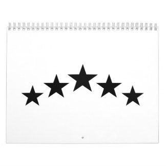 Black stars calendar