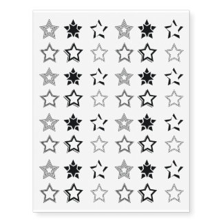 Black Stars Collection Temporary Tattoos