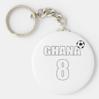 Black Stars Ghana 8 soccer lovers football gifts Basic Round Button Keychain
