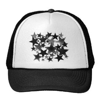 Black Stars Mesh Hats