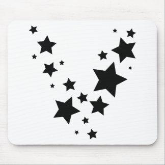 black stars rain icon mouse pad