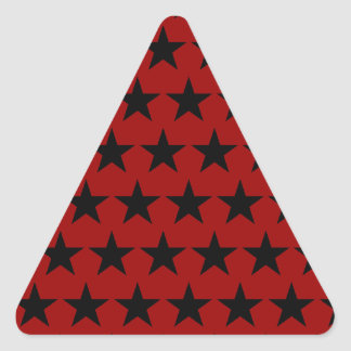 Black Stars Triangle Sticker