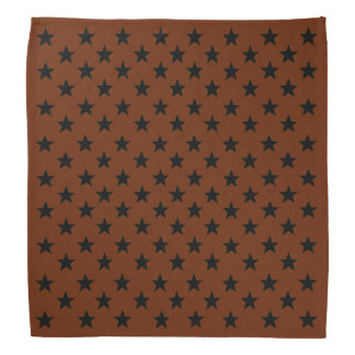 Black Stars with Your Color Background Bandana