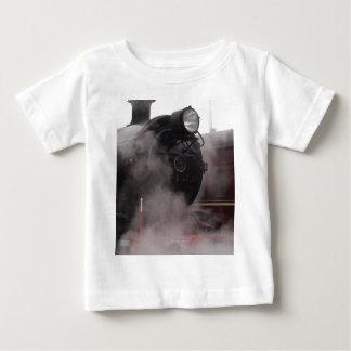 Black Steam Train Baby T-Shirt