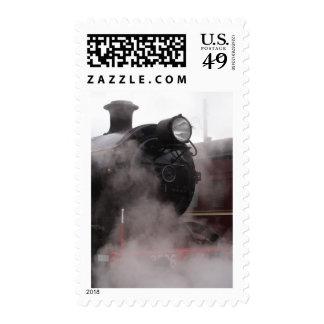 Black Steam Train Postage