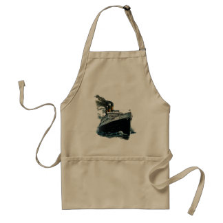 Black steamer ship adult apron
