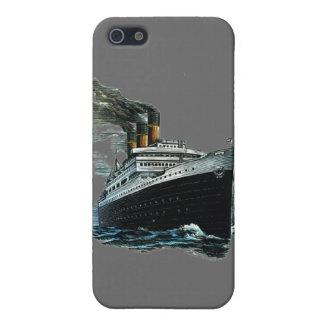 Black steamer ship case for iPhone SE/5/5s